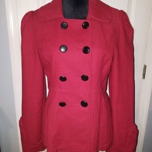 Adorable Red Tulle Coat Size Large